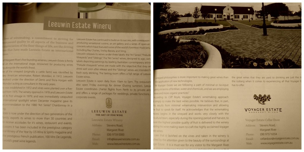 Wineries Collage